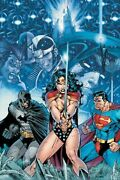 Dc Infinite Crisis 1 Poster Signed By Jim Lee 2005 Art-082