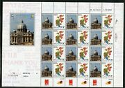 Israel 2009 Papal Visit Of Pope Benedict Xvi Set Of Two Sheets Mint Nh