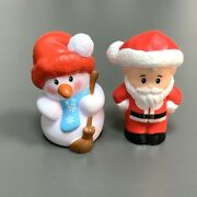 2 Fisher Price Little People Advent Calendar Christmas Snowmanflake And Man Figure