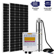 3'' Solar Bore Water Pump Deep Well Submersible Complete Kits And Mppt+solar Panel