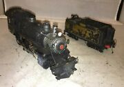 Long Island Railroad O Scale Brass 4-4-0 Steam Engine And Tender