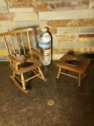Antique Vintage Small Rocking Chairs Doll Furniture