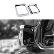 Rear View Side Door Mirror Frame Cover For Jeep Wrangler Jl 2018-2020 Abs Chrome