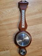 20.5 Chicago Airguide Mahogany Wood Plaque Weather Station