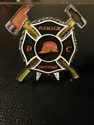 Navy Dc Damage Controlman Firefighter 4in Glow In The Dark Challenge Coin Spin