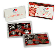 2005 S United States Us Mint 10 Pc Silver Proof Set