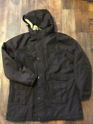 Land's End Fleece Lined Removable Hood Squall Coat Parka Xl 46-48 Waterproof