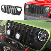 For 2018-2020 Jeep Wrangler Jl Abs Black External Front Grille Grill Decoration