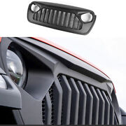 Fit For 2018-2020 Jeep Wrangler Jl Black Car Front Grille Grill Cover Decoration