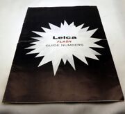 Leica Flash Guide Numbers Photography Guide For M Rangefinder Cameras