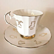 Red Rose Bone China 1 Fortune Telling Tea Cup, Saucer And Booklet
