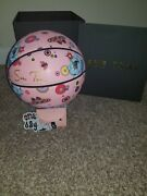 Pink Cotton Candy Flower Bomb Ii 2 Basketball By Sue Tsai Limited Edition