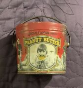 Jackie Coogan Peanut Butter Tin C. 1920's Approx 3.5-3.75 Inches