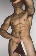 Shirtless Male Muscular Nude Body Briefs Muscle Hunk Guy Beefcake Photo 4x6 G970