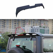 For 2007-2020 Jeep Wrangler Black Roof Boot Spoiler Wing Flap With Lights 1pcs