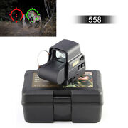 558 Red Green Dot Tactical Holographic Sight Reflex Sight With 20mm Qd Rail