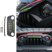 Black Abs Front Central Grille Grill Trim For 2018-2019 2020 Jeep Wrangler Jl