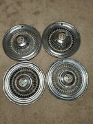 1964 Buick Special Wheel Covers Hubcaps Set Of 4 Chrome With Center Caps