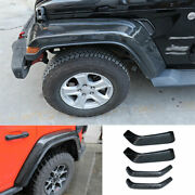 Fit For 2018-2020 Jeep Wrangler Jl Abs Carbon Fiber Wheel Eyebrow Cover Trim 4x