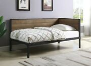 Industrial Inspired Rustic Chestnut Dorm Room Twin Daybed Bedroom Furniture