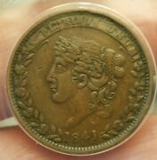 Hard Times Token Ht-48 Liberty Not One Cent For Tribute Nice Ef/au T-110
