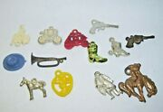 Western Cowboy Cracker Jack Charms And Toys Boots Hat Horse Lot Of 13