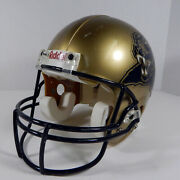 University Of Pittsburgh Panthers 41 Game Used Gold Helmet Dp03240
