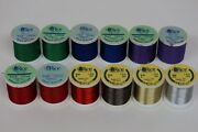 Rice Nice Mixed Lot Of Rod Winding Thread Fly Tying Crafts 12 Spools Gudebrod