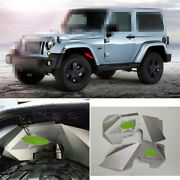 Fit For Jeep Wrangler Jk 07-2017 Front Wheel Eyebrow Flares Inside Lining Silver