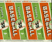 Group Of 3 Different 1955 Topps Baseball Wrappers
