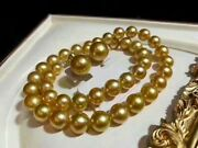 Perfect 12-13mm Strong Golden Australian South Sea Pearl Necklace Japan Order