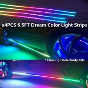 Chasing Underbody Kits Dream Color X4pcs 6.5ft Music Plate Led Light Strips Sets