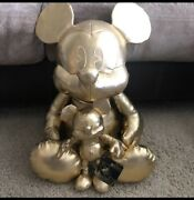 Disney Limited Edition Golden Mickey Mouse Plush Large And Small