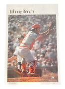 1978 Sports Illustrated Johnny Bench Poster Measures 24 X 36