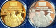 9-11 Wtc World Trade Center You Can Run Cannot Hide Silver Gold Clad 2011 Coins