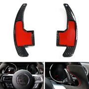 Carbonfiber Steering Wheel Paddle Shifter Extension Cover For 15-21 Ford Mustang