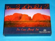 Australia 2002 Year Of Outback Proof Set With Coloured Dollar Coin Nice