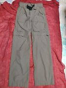 Boy Scout Of America Uniform Switchback Pants-belt Youth Small-s Green Inseam 30