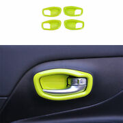 Fit For Jeep Renegade 2015-2019 2020 Abs Green Interior Door Bowl Cover Trim 4x