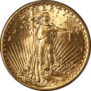 1914-s Saint-gaudens Gold 20 Pcgs Ms63 Great Eye Appeal Strong Strike