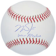 Mike Trout Autographed War Machine Angels Official Baseball Mlb Authentic
