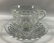 Fostoria American Ft. Flared Coffee Cup With Saucer, C. 1915-1987