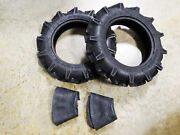 Two New 5-12 Duramax Ag Deep Lug Compact Tractor Tires 4 Ply With Tubes