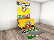 Car Race Party Banner Decorations Supplies Welcome Race Fans Backdrop For Racing