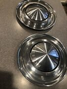 Two Mercury Comet Cyclone Dog Dish Hubcap Wheel Cover Center Cap Vintage Classic