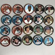 Vintage Salada Tea Junket Baseball Coin Lot Andlsquo62-andlsquo64 Made In Usa