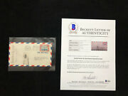 1928 Amelia Earhart Signed Autographed Airmail Cover Cachet Envelope Bas Beckett