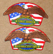 Hiawatha Seaway Council 2- 8 Back Patches -eagle Scout And Adirondack Scout Camps
