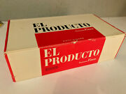 Vintage El Producto Red And White Cigar Box - Excellent Condition