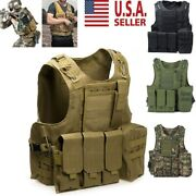 Tactical Military Swat Airsoft Molle Combat Assault Plate Carrier Vest Gear New